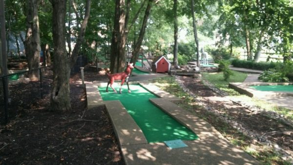 miniature golf deer