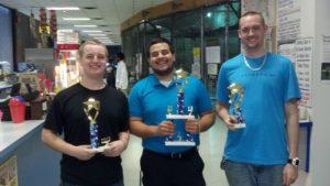 May 2013's Air Hockey Tournament Winners
