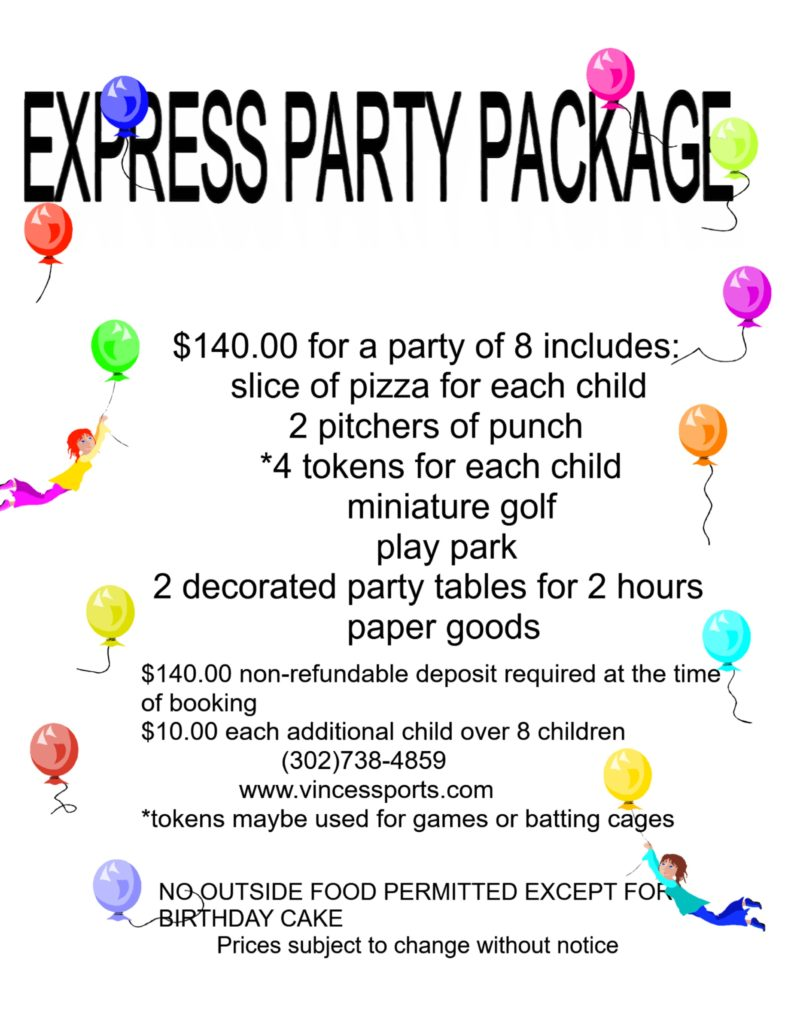 My Certificate express party