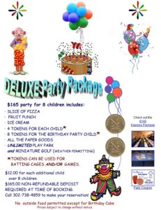 Party packages in Newark DE