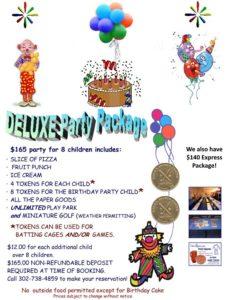 Party packages in Newark DE