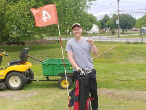 Alex MacCready hit a 141 yard tee shot drive on number 4 on on 5/18/20!
